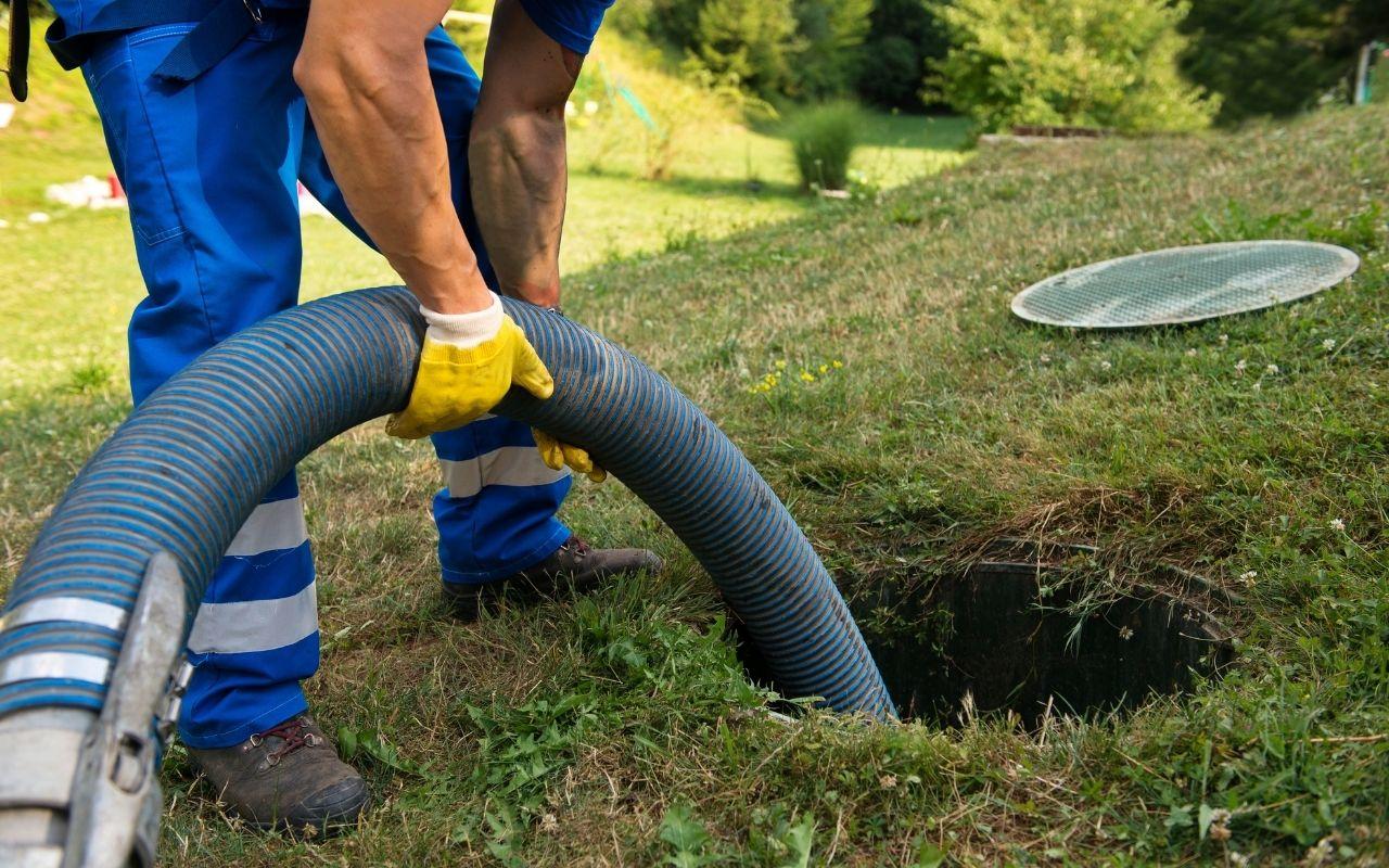 Sewage cleanup in progress