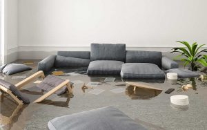 Flooded living room - What Equipment Is Used When Restoring Water Damage?